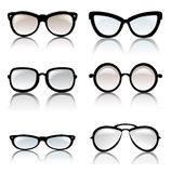 Glasses frames isolated set Stock Photos