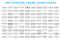 Glasses frames vector