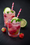 Glasses of fresh,home-made  fresh juice Royalty Free Stock Photography