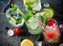 Glasses of fresh,home-made  fresh juice Royalty Free Stock Image