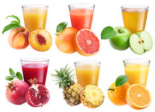 Glasses of fresh juice. royalty free stock images
