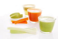 Vegetable juices Stock Photos