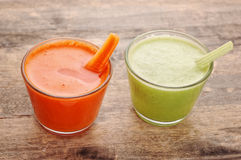 Vegetable juices Royalty Free Stock Image