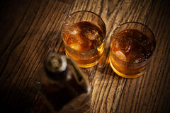 Glasses From Whisky Royalty Free Stock Photography