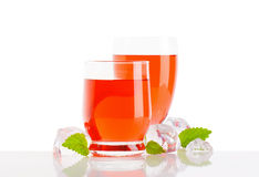 Glasses of fruit flavored drinks Royalty Free Stock Photos