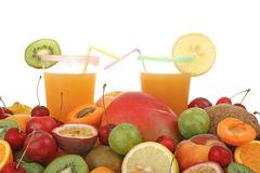 Glasses of fruit juice Royalty Free Stock Photos