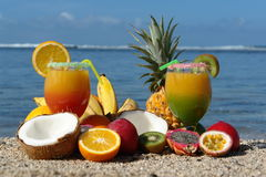 Glasses of fruit juice Royalty Free Stock Images