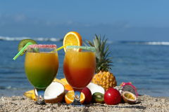 Glasses of fruit juice Royalty Free Stock Photo