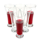 Glasses with fruit juice Royalty Free Stock Photo
