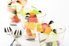 Glasses Of Fruit Salad Stock Photography