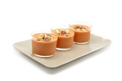 Glasses with gazpacho Stock Photo
