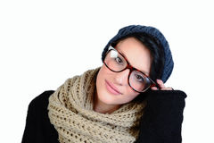Glasses girl Stock Photos