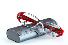 Glasses and  glasses case Royalty Free Stock Image