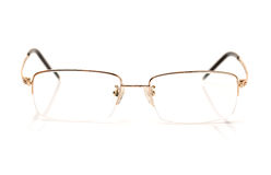 A glasses of gold color for dull sight Stock Images