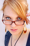 With glasses good appearance Stock Image