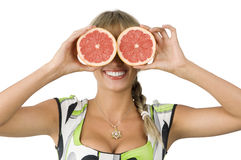 Glasses grapefruit Royalty Free Stock Image