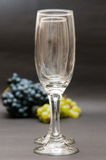 Glasses and grapes Royalty Free Stock Images