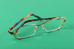 The glasses on green Royalty Free Stock Photography