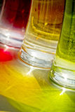 Glasses green red yellow. Glasses colorful with light reflection - red, green, yellow Royalty Free Stock Photo