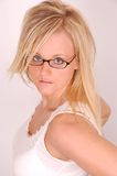 Glasses and Hair Model Stock Image