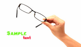 Glasses in the hand - isolated Royalty Free Stock Photo