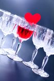 Glasses with heart Stock Photography