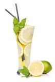 Glasses with homemade lemonade Stock Photography