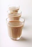 Glasses of hot chocolate Royalty Free Stock Images