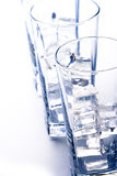 Glasses with ice Stock Photography