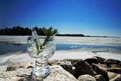Glasses with ice Royalty Free Stock Photos