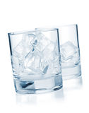 Glasses with ice cubes Royalty Free Stock Photo