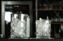 Glasses with ice Stock Photos