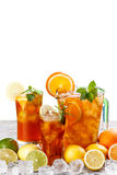 Glasses of ice tea Royalty Free Stock Images