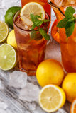 Glasses of iced tea Stock Images