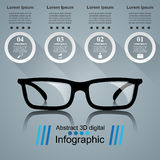 Glasses icon. Abstract  illustration Infographic. Glasses icon on the grey background. Business Infographics origami style Vector illustration Stock Photography