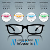 Glasses icon. Abstract  illustration Infographic. Glasses icon on the grey background. Business Infographics origami style Vector illustration Stock Photo