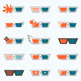 Glasses Icon. For decoration artwork about movie entertainment & technology - Vector Stock Image