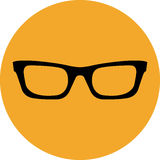 Glasses icon Stock Images