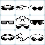 Glasses Icon Set Stock Images