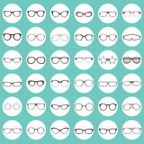 Glasses icons Stock Image