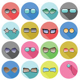 Glasses icons Stock Photography