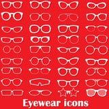 Glasses icons Stock Photos