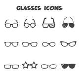 Glasses icons Stock Photo