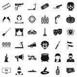 Glasses icons set, simle style. Glasses icons set. Simple style of 36 glasses vector icons for web isolated on white background Royalty Free Stock Photos