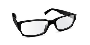 Glasses. Illustration of a thick-framed glasses  on white background Stock Images