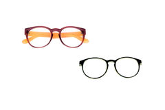 Glasses Isolated on White. Glasses colour nerd white see geek old Royalty Free Stock Photo