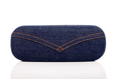 Glasses jean case Royalty Free Stock Image
