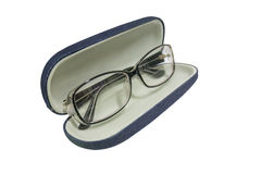 Glasses jeans case fashion Stock Images