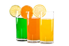 The glasses of  juice Royalty Free Stock Image