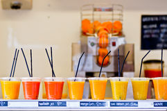 Glasses of juice Royalty Free Stock Photo